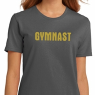 Ladies Gymnastics Shirt Gold Shimmer Gymnast Organic Tee T-Shirt