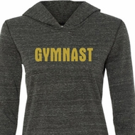 Ladies Gymnastics Shirt Gold Shimmer Gymnast Tri Blend Hoodie T-Shirt