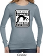 Ladies Gymnastics Shirt Warning Gymnast Could Flip Long Sleeve Thermal