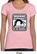 Ladies Gymnastics Shirt Warning Gymnast Could Flip Scoop Neck Tee