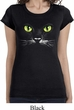 Ladies Halloween Shirt Black Cat Longer Length Tee T-Shirt
