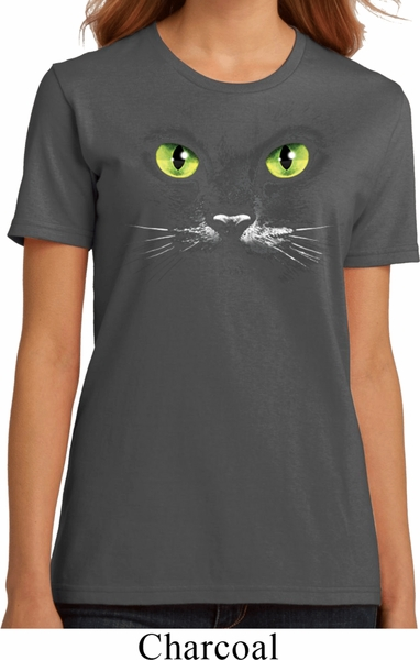 ladies halloween shirt black cat organic tee t shirt - Halloween Shirts For Ladies