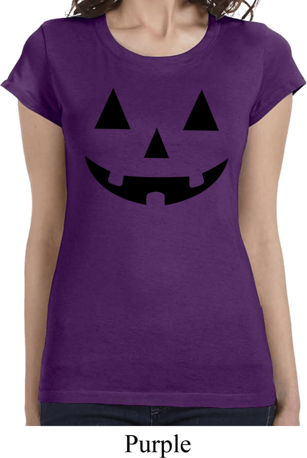 ladies halloween shirt black jack o lantern longer length tee t shirt black jack o lantern ladies halloween shirts - Halloween Shirts For Ladies