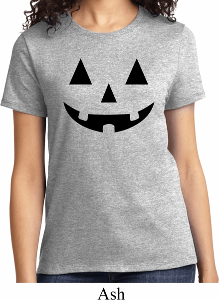 ladies halloween shirt black jack o lantern tee t shirt - Halloween Shirts For Ladies