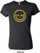 Ladies Halloween Shirt Evil Smiley Face Crewneck Tee T-Shirt
