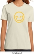 Ladies Halloween Shirt Evil Smiley Face Organic Tee T-Shirt
