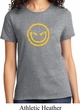 Ladies Halloween Shirt Evil Smiley Face Tee T-Shirt