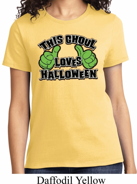 ladies halloween shirt this ghoul loves halloween tee t shirt