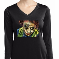 Ladies Joker Face Moisture Wicking Long Sleeve Shirt