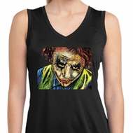 Ladies Joker Face Sleeveless Moisture Wicking Shirt