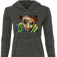 Ladies Joker Face Tri Blend Hoodie Shirt