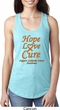 Ladies Leukemia Cancer Hope Love Cure Ideal Racerback