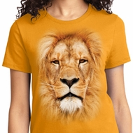 Ladies Lion Shirt Big Lion Face Tee T-Shirt