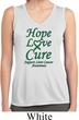 Ladies Liver Cancer Hope Love Cure Dry Wicking Sleeveless Shirt