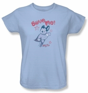 Ladies Mighty Mouse T-shirt - TV Series Save Me Light Blue Tee
