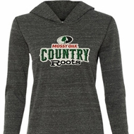 Ladies Mossy Oak Country Roots Tri Blend Hoodie Shirt