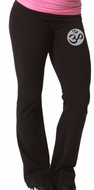 Ladies OM Yoga Pants - Foldover Cotton Spandex