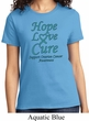 Ladies Ovarian Cancer Awareness Hope Love Cure T-shirt