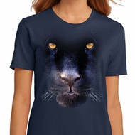 Ladies Panther Shirt Big Panther Face Organic T-Shirt