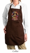 Ladies Peace Apron Funky Peace Full Length Apron with Pockets