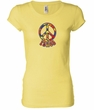Ladies Peace Shirt Funky Peace Longer Length Tee T-Shirt