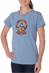 Ladies Peace Shirt Funky Peace Organic Tee T-Shirt