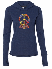 Ladies Peace Shirt Funky Peace Tri Blend Hoodie Tee T-Shirt