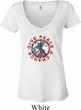 Ladies Peace Shirt Give Peace a Chance Burnout V-neck Tee T-Shirt