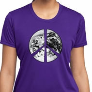 Ladies Peace Shirt Peace Earth Moisture Wicking Tee T-Shirt