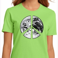 Ladies Peace Shirt Peace Earth Organic Tee T-Shirt