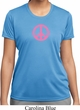 Ladies Peace Shirt Pink Peace Moisture Wicking Tee T-Shirt