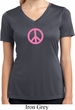 Ladies Peace Shirt Pink Peace Moisture Wicking V-neck Tee