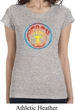 Ladies Peace Shirt Psychedelic Peace Longer Length Tee T-Shirt