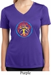 Ladies Peace Shirt Psychedelic Peace Moisture Wicking V-neck Tee