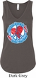 Ladies Peace Tanktop All You Need is Love Flowy V-neck Tank Top