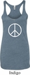 Ladies Peace Tanktop Basic Peace White Tri Blend Racerback Tank Top