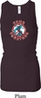Ladies Peace Tanktop Come Together Longer Length Racerback Tank