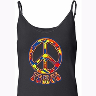Ladies Peace Tanktop Funky Peace Built in Bra Tank Top
