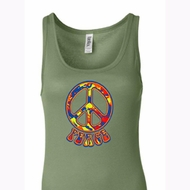 Ladies Peace Tanktop Funky Peace Longer Length Tank Top