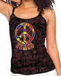 Ladies Peace Tanktop Funky Peace Tie Dye Camisole Tank Top