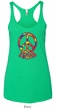 Ladies Peace Tanktop Funky Peace Tri Blend Racerback Tank Top