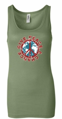 Ladies Peace Tanktop Give Peace a Chance Longer Length Tank Top