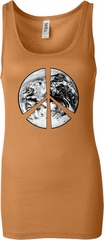 Ladies Peace Tanktop Peace Earth Longer Length Tank Top