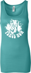 Ladies Peace Tanktop Peace Now Longer Length Tank Top