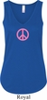 Ladies Peace Tanktop Pink Peace Flowy V-neck Tank Top