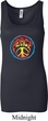 Ladies Peace Tanktop Psychedelic Peace Longer Length Tank Top
