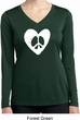 Ladies Peace Tee Hippie Heart Peace Dry Wicking Long Sleeve