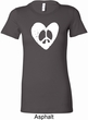 Ladies Peace Tee Hippie Heart Peace Longer Length Shirt