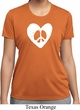 Ladies Peace Tee Hippie Heart Peace Moisture Wicking T-shirt