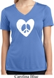 Ladies Peace Tee Hippie Heart Peace Moisture Wicking V-neck
